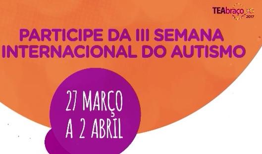 TEAbraço - Semana Internacional do Transtorno Espectro Autista.