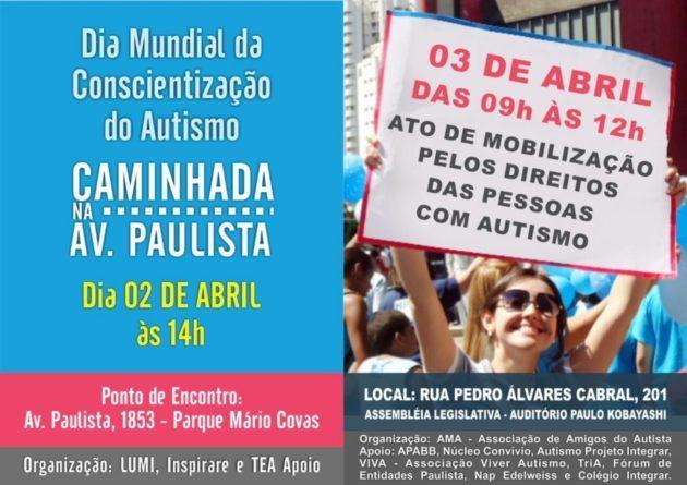Ato de mobilização pelos direitos das pessoas com Autismo